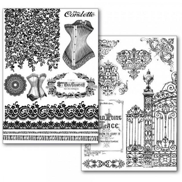 Stamperia 2 Χαρτιά Μεταφοράς Α4 Old laces