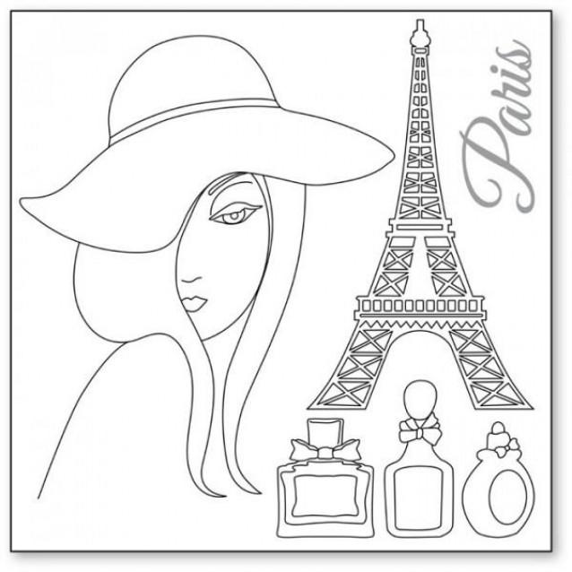Stamperia Silhouette Art Napkin - Paris