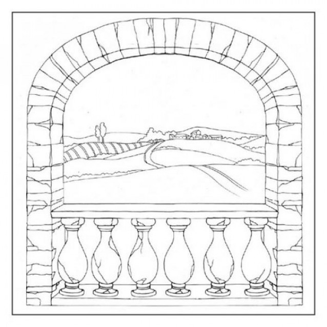 Stamperia Silhouette Art Napkin - Country Arch