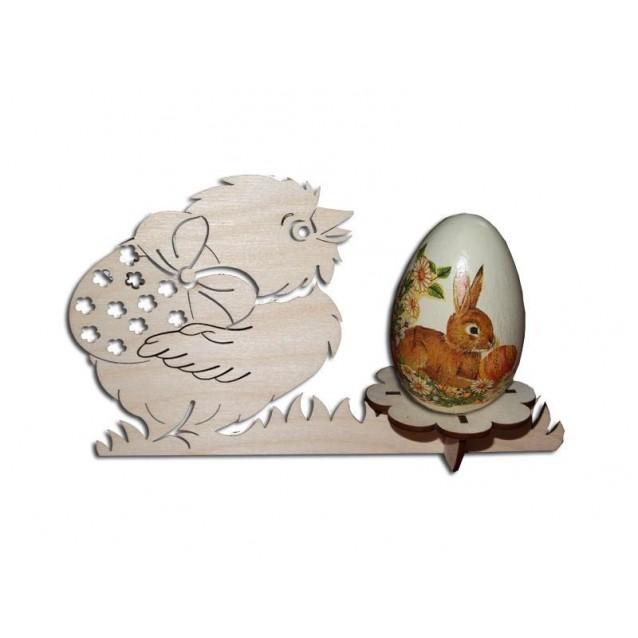 Ξύλινη Βάση Κοτόπουλο για Αυγό 200X120mm