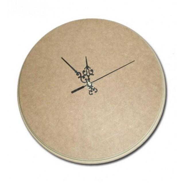 Ξύλινο MDF Στρογγυλό Ρολόι 40cm