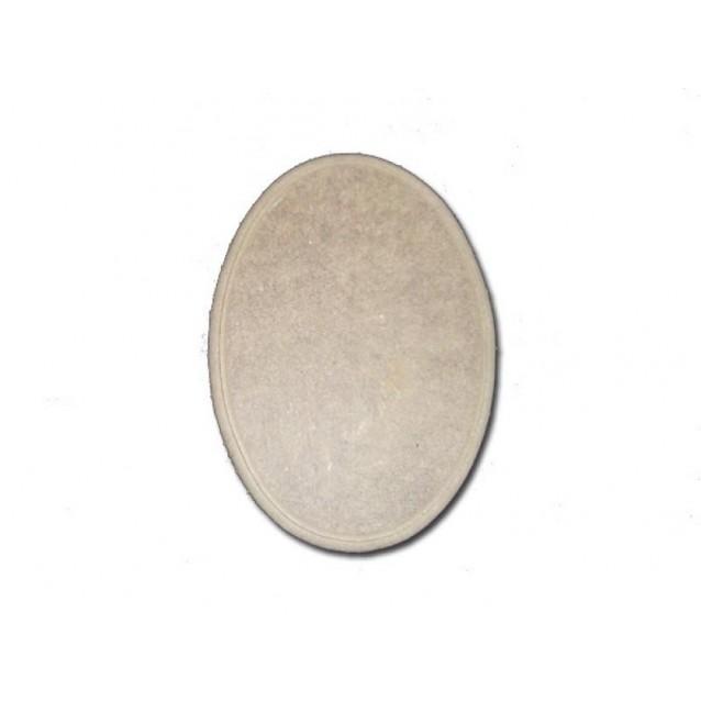 Ξύλινη Πινακίδα Οβάλ MDF 14,5x20x0,7cm