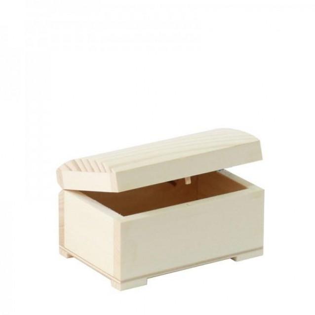 Ξύλινο Μπαουλάκι Mini 9,5x6x5,5cm