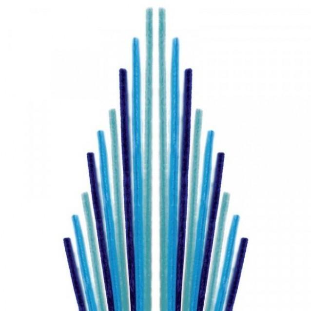Glorex 10 Σύρματα Πίπας 50cm Μπλε