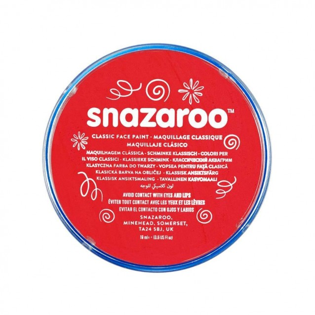 Snazaroo 18ml Κρέμα Face Painting Classic Bright Red