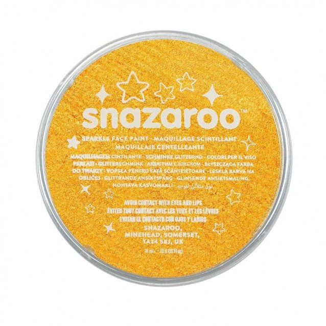 Snazaroo 18ml Κρέμα Face Painting Sparkle Yellow