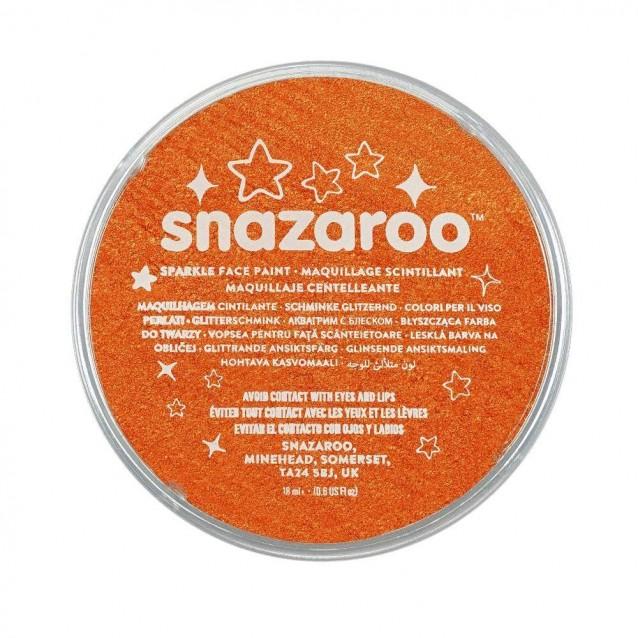 Snazaroo 18ml Κρέμα Face Painting Sparkle Orange