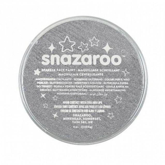 Snazaroo 18ml Κρέμα Face Painting Sparkle Metal Grey