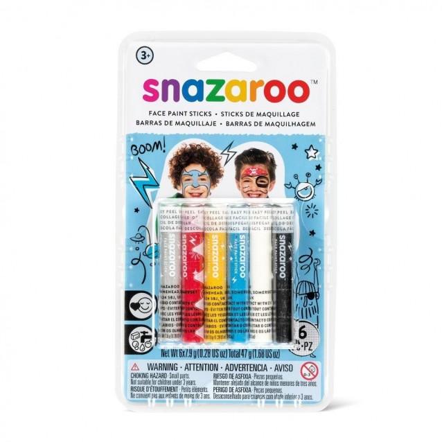 Snazaroo 6 Κραγιόνια Face Painting Boy