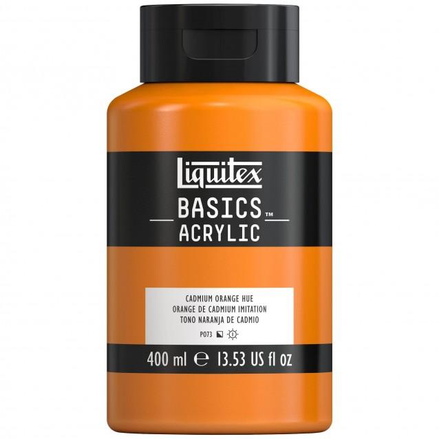 Liquitex Basics 400ml Acrylic 720 Cadmium Orange Hue