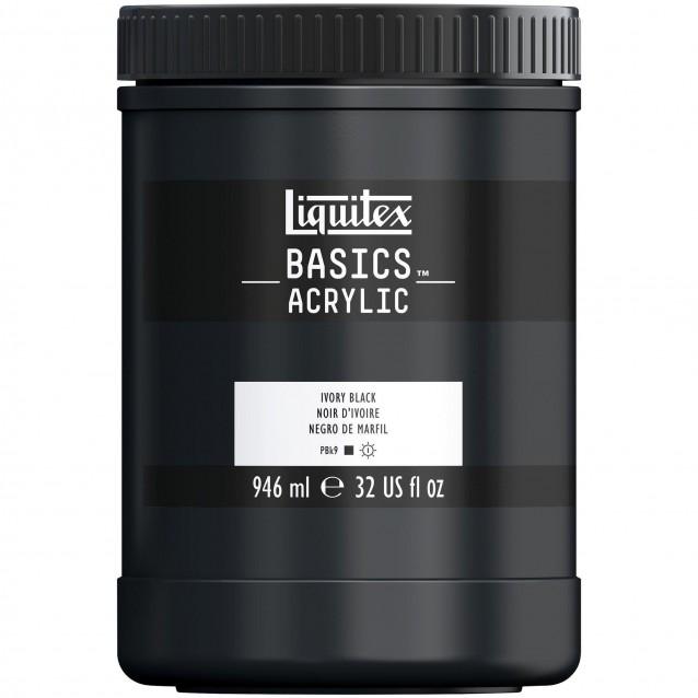 Liquitex Basics 946ml Acrylic 244 Ivory Black