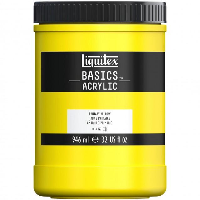 Liquitex Basics 946ml Acrylic 410 Primary Yellow