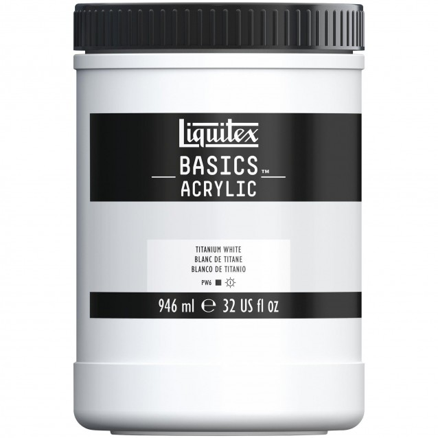 Liquitex Basics 946ml Acrylic 432 Titanium White