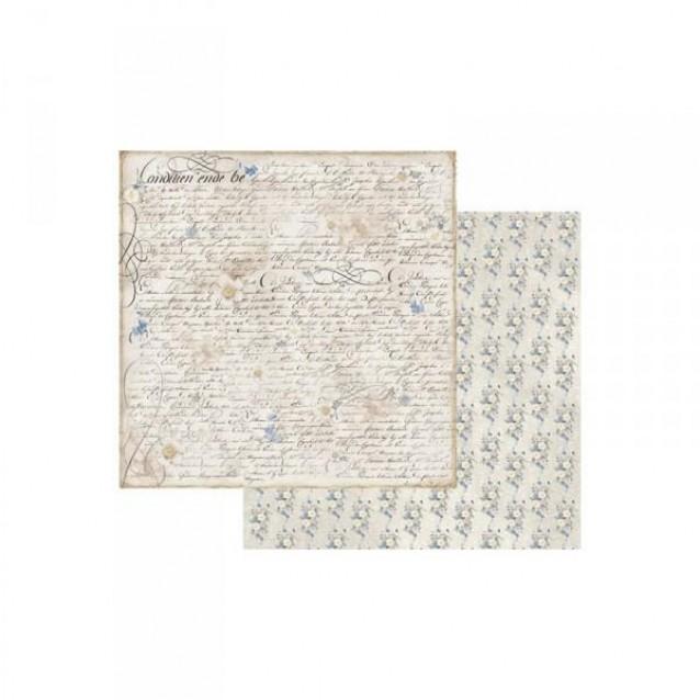Stamperia Χαρτί Scrapbooking 30,5x30,5cm Διπλής Όψης Old England Writing