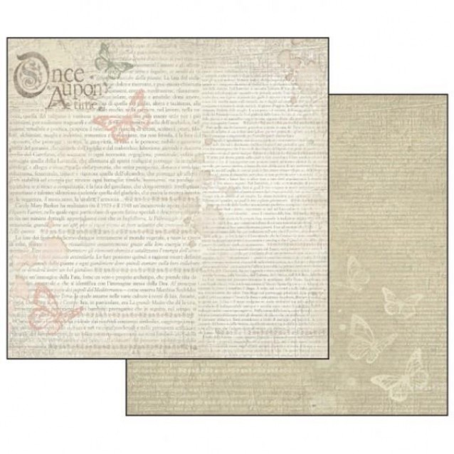Stamperia Χαρτί Scrapbooking 30,5x30,5cm Διπλής Όψης Once Upon A Time