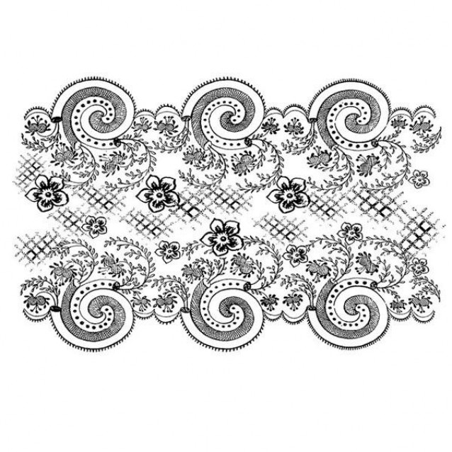 Stamperia Ακρυλική Σφραγίδα 7x11cm Scallop Lace Border