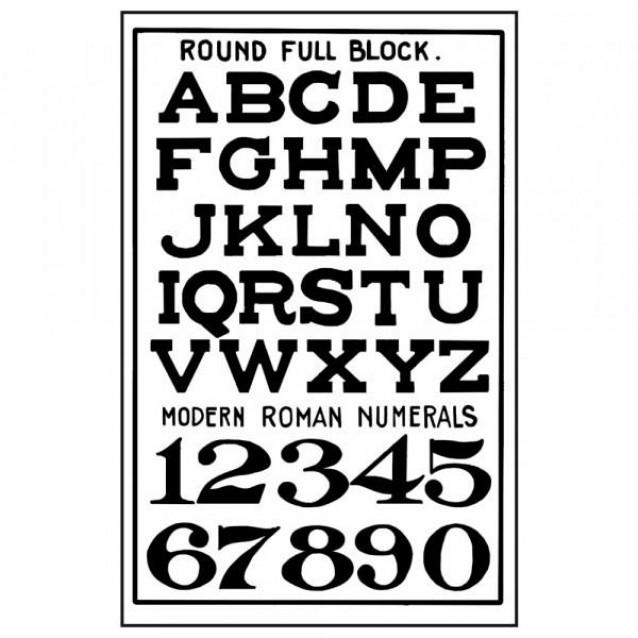 Stamperia Σφραγίδα Υψηλής Ανάλυσης 7x11cm Alphabet & Numbers