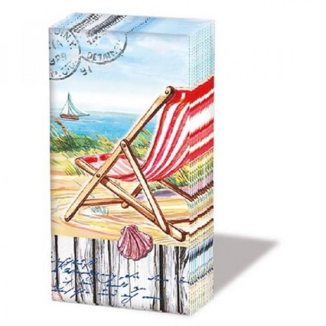 10 Χαρτομάντηλα 21,5x22cm Beach Chair