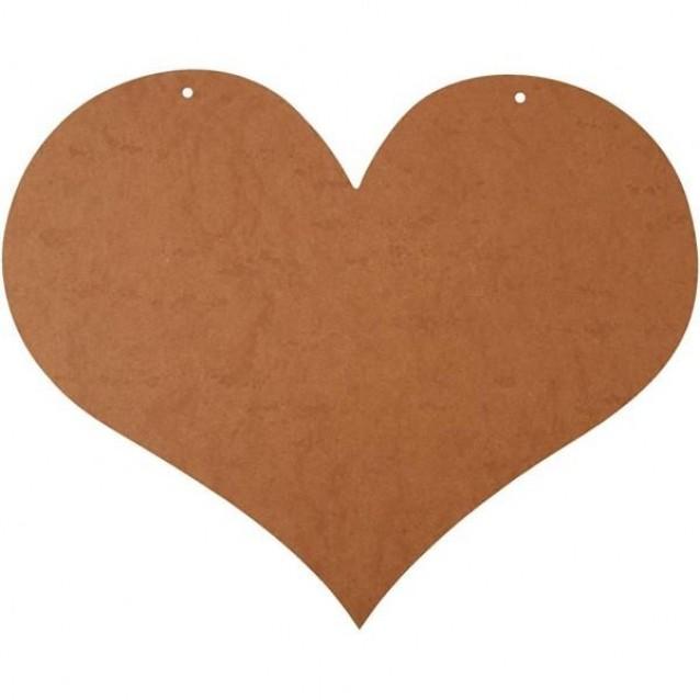 Ξύλινη Καρδιά 50X40 cm