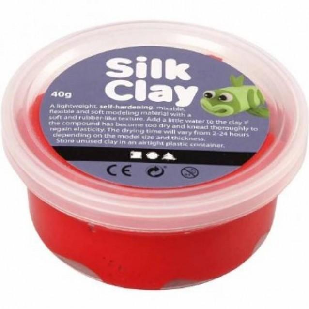 Πλαστοζυμαράκι Silk Clay 40 gr Κόκκινο