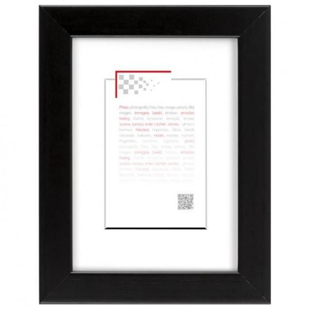 Κορνίζα Ξύλινη 18Χ24 cm Μαύρη Ματ