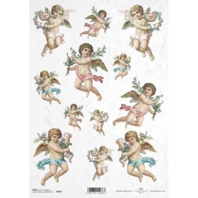 Itd. Collection Ριζόχαρτο Decoupage A4 (21x29,7cm) Angels