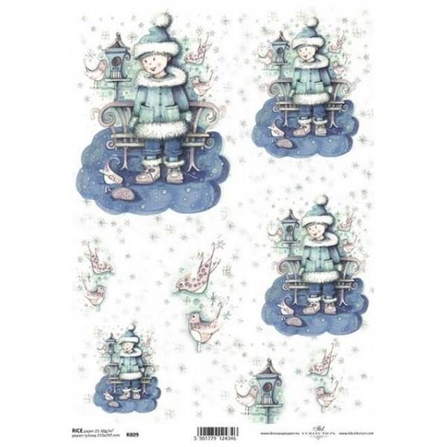 Itd. Collection Ριζόχαρτο Decoupage A4 (21x29,7cm) Christmas