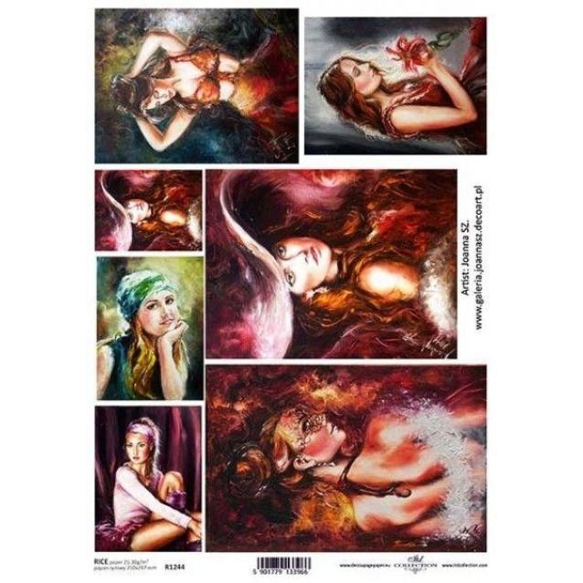 Itd. Collection Ριζόχαρτο Decoupage A4 (21x29,7cm) Portraits Of Women I