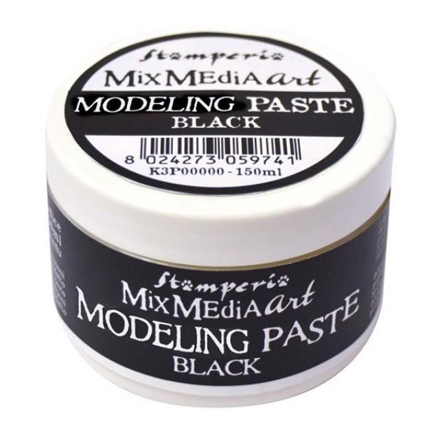 Stamperia 150ml Modeling Paste Μαύρο