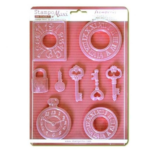 Stamperia Φόρμα Πηλού A4 Ρολόγια & Κλειδιά