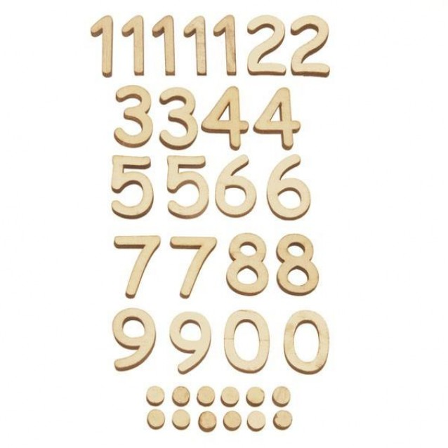 Stamperia 35 Ξύλινοι Αριθμοί 2,5cm