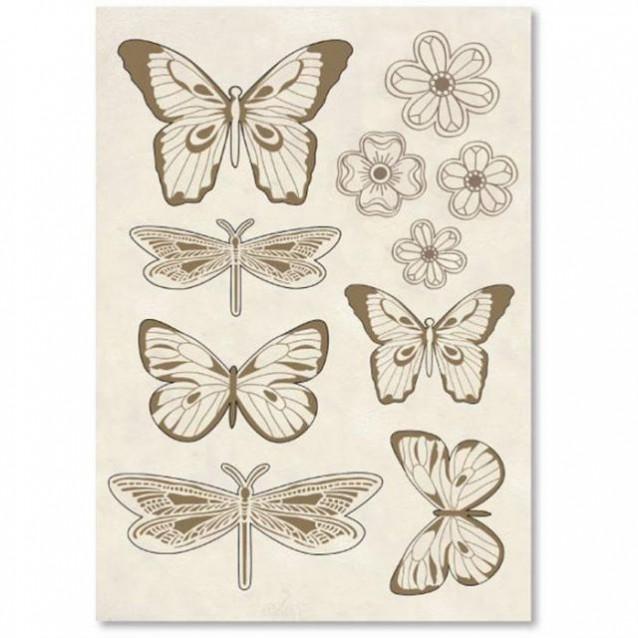 Stamperia Ξύλινο Σχήμα A5 (14,8Χ21cm) Πεταλούδες