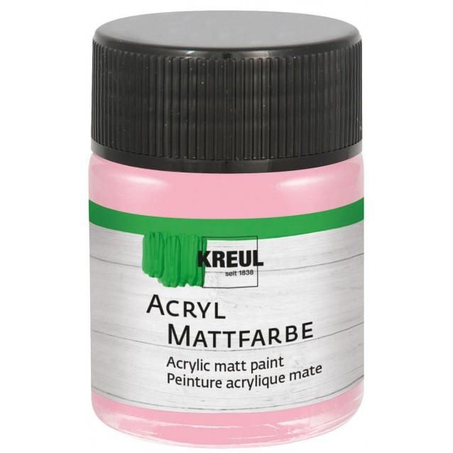 Kreul 50ml Acrylic Mat Pastel Rose