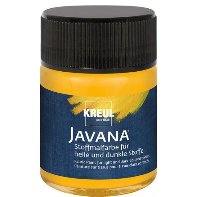 Kreul 50ml Javana Σκουρόχρωμο Ύφασμα Golden Yellow