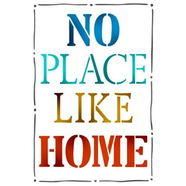 Stamperia Stencil G 21x29,7cm No Place Like Home