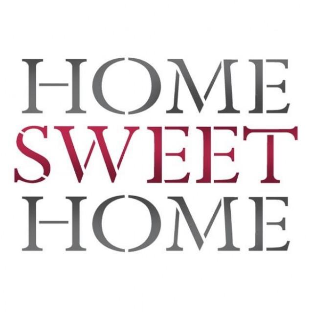 Stamperia Stencil G 21x29,7cm Home Sweet Home