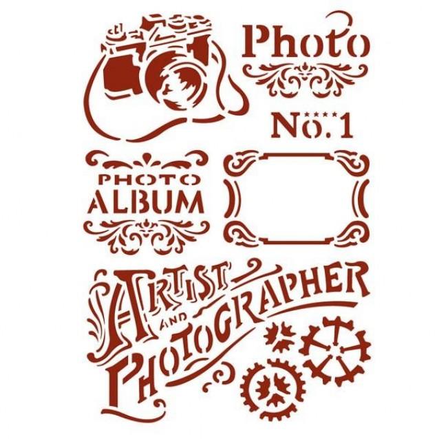 Stamperia Stencil G 21x29,7cm Photo
