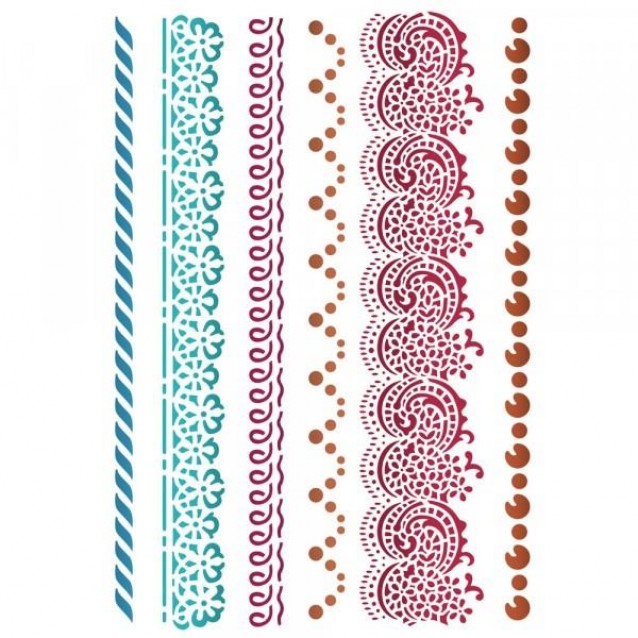 Stamperia Stencil G 21x29,7cm Border Laces