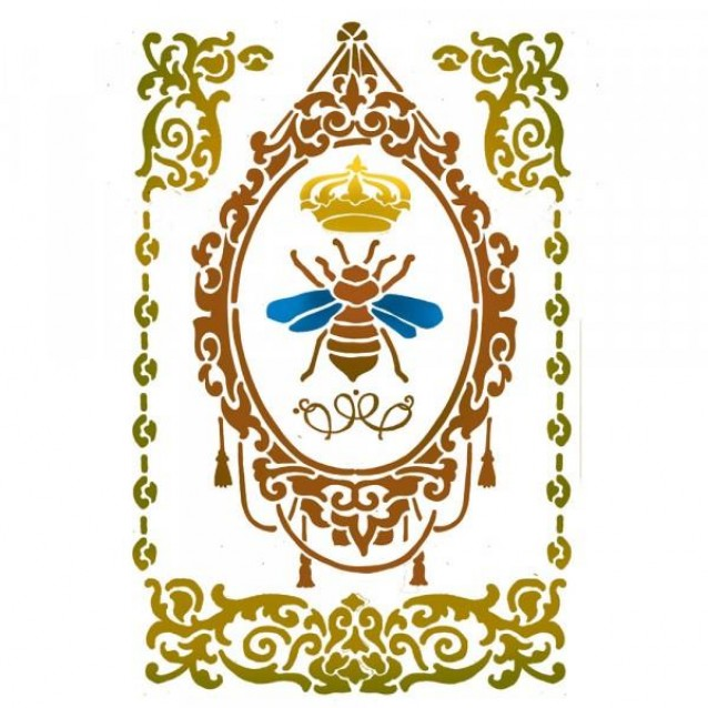 Stamperia Stencil G 21x29,7 cm Queen Bee