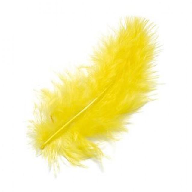 15 Φτερά Marabu Κίτρινα 12cm