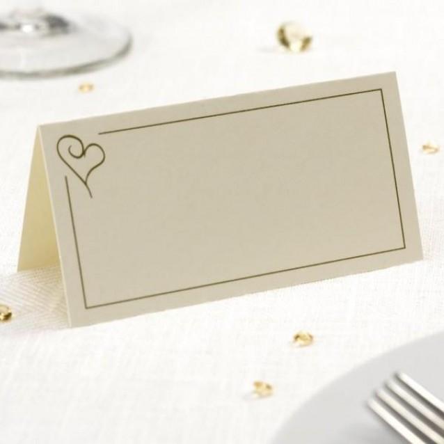 50 Καρτάκια Θέσεων Contemporary Heart Χρυσό