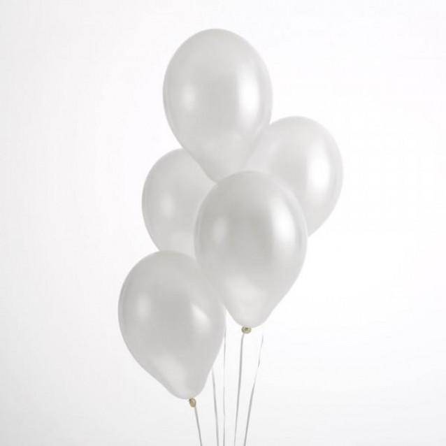 50 Περλέ Μπαλόνια Λευκό