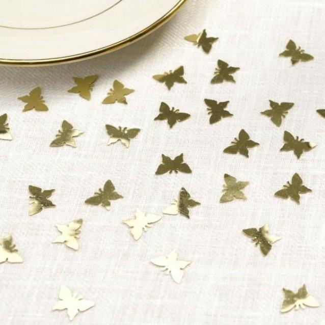 10 Κονφετί Πεταλούδες Χρυσό