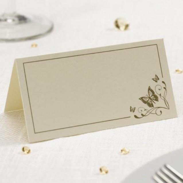 50 Καρτάκια Θέσεων Elegant Butterfly Χρυσό