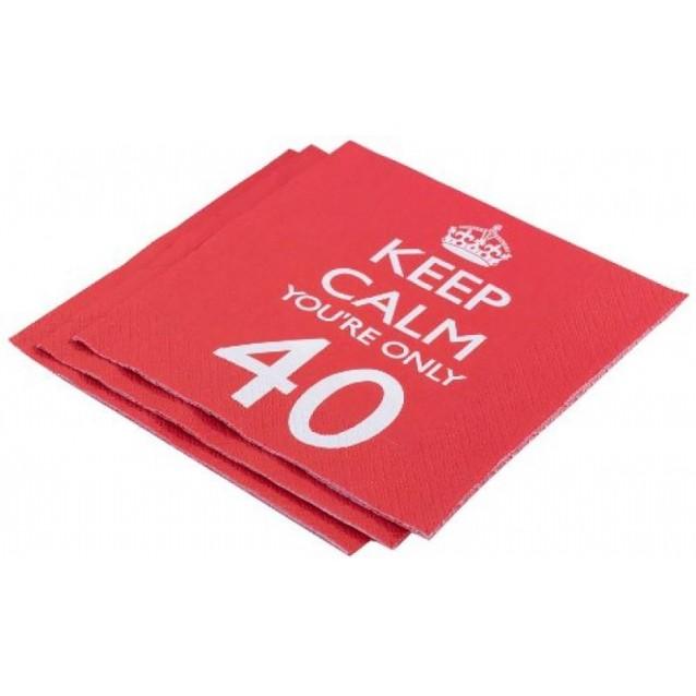 20 Χαρτοπετσέτες Keep Calm You're Only 40