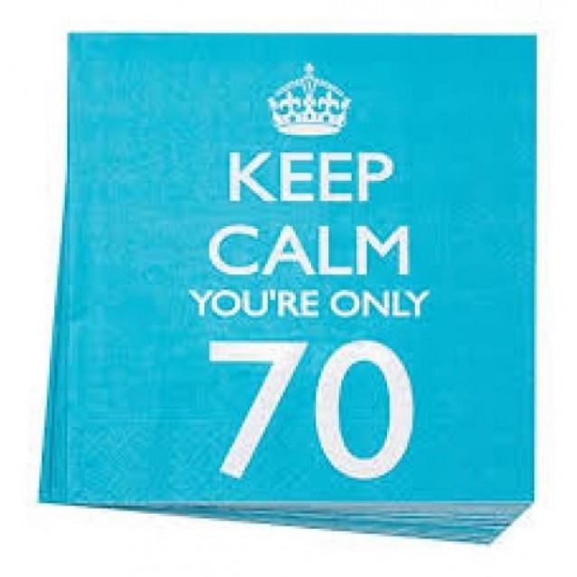 20 Χαρτοπετσέτες Keep Calm You're Only 70