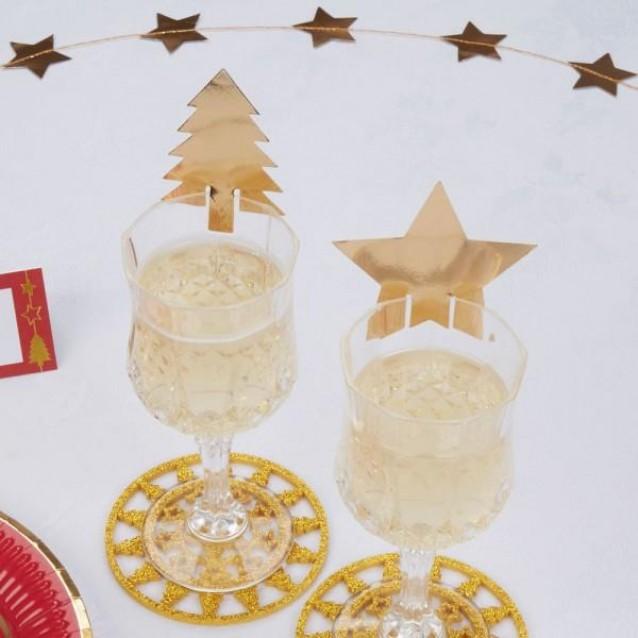 10 Διακοσμητικά Ποτηριού Dazzling Christmas
