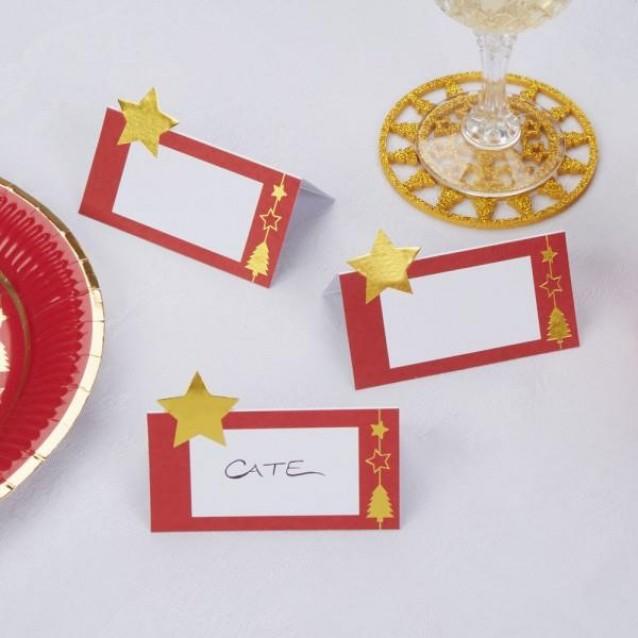 10 Καρτάκια Θέσεων Dazzling Christmas