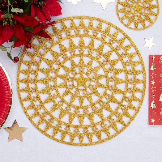 4 Χρυσά Σουπλά Dazzling Christmas