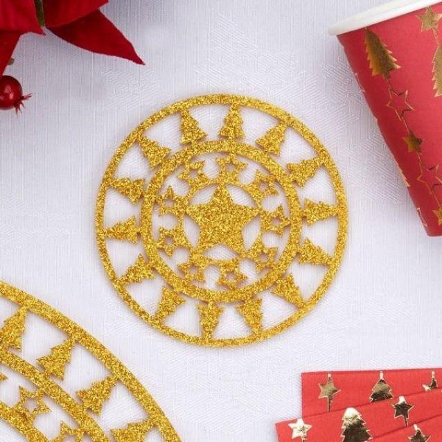 4 Χρυσά Σουβέρ Dazzling Christmas